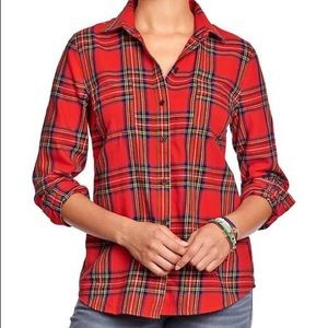Old Navy classic flannel shirt in vibrant colors